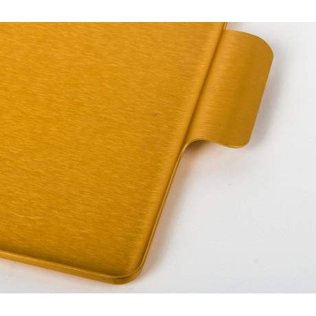 Поднос золотистый 42x30см, Kaymet - 31020