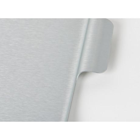 Поднос серебристый 42x30см, Kaymet - 31021