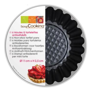 Форма для выпечки тарталеток (6шт в уп), ScrapCooking - 33249