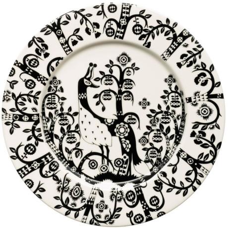Тарелка с черным рисунком 22см Taika, iittala - 18733