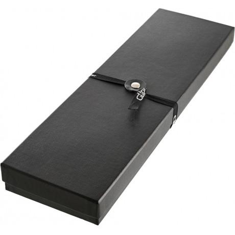 Нож филейный из дамасской стали 21см в подарочной упаковке с льняным полотенцем, Gude - 32422