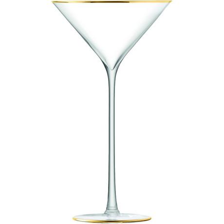 Бокал для коктейлей 225мл 2шт с золотистой полосой Celebrate, LSA international - 34737