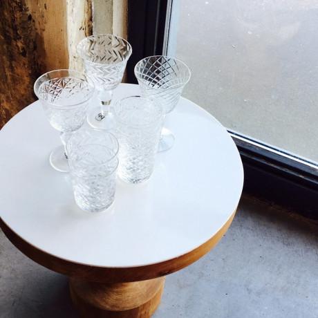 Набор бокалов для вина прозрачный с резьбой 10х17см (4шт в уп), Pols potten - 35630
