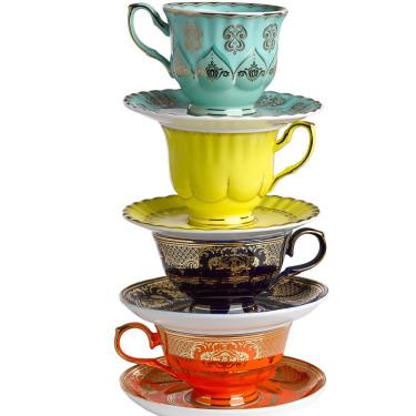Набор чашек с блюдцами разноцветных (4шт в уп), Pols potten
