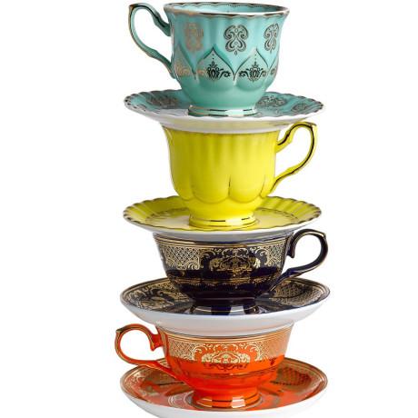 Набор чашек с блюдцами разноцветных (4шт в уп), Pols potten - 35643