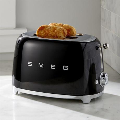 Тостер на 2 тоста черный, SMEG - 72190