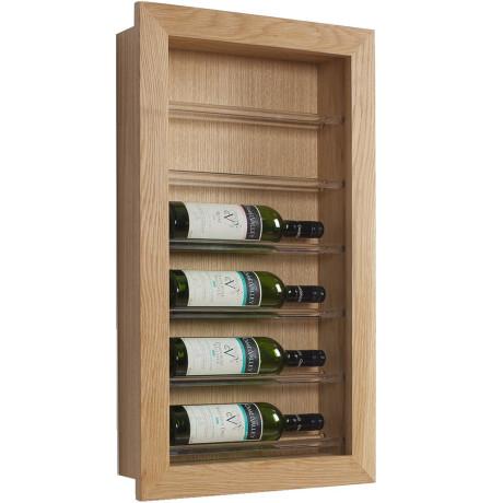 Стенд на 6 бутылок вина белый дуб - 38244