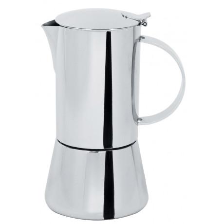 Кофеварка гейзерная индукционная на 6 чашек Capri глянцевая, Cristel - 37543