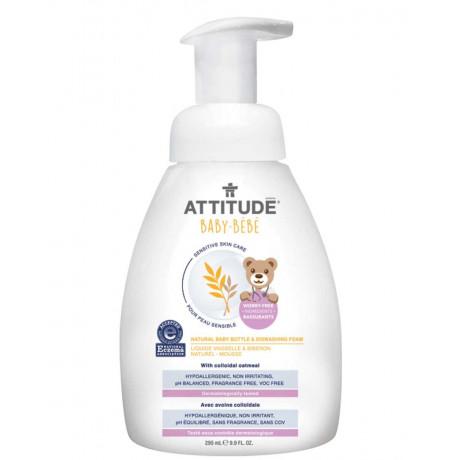Пенка для мытья детской посуды 295мл, Attitude - 41186