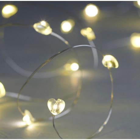 Гирлянда Сердечки на 20 LED лампочек, Sirius - 34292