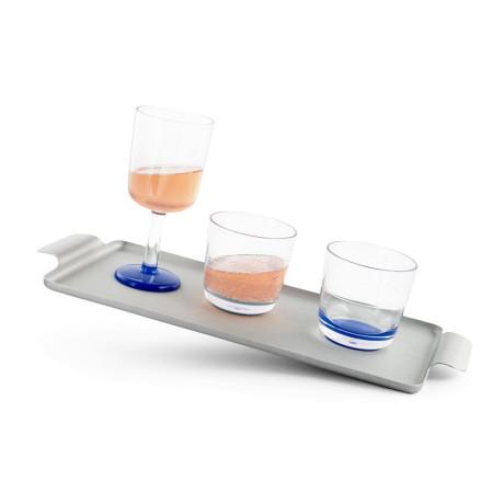 Стакан для виски/коктейлей синий из тритана 280мл Marc Newson, Palm - 85579
