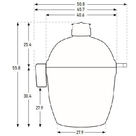 Угольный керамический гриль Joe Junior, Kamado Joe - 20146