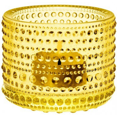 Подсвечник желтый 64мм Kastehelmi, Iittala - 44177