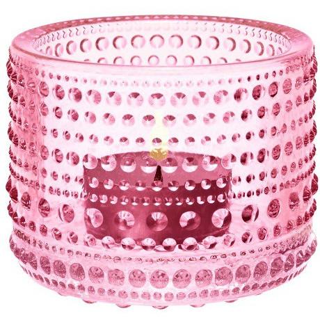 Подсвечник светло-розовый 64мм Kastehelmi, Iittala - 44178