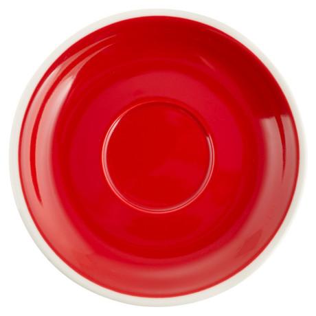 Блюдце 14см красный, Acme - 43434