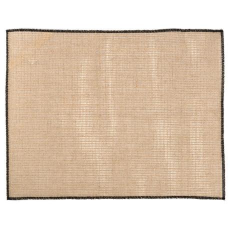 Салфетка столовая льняная черная 45х35см Quadrille, Charvet Editions - 44381