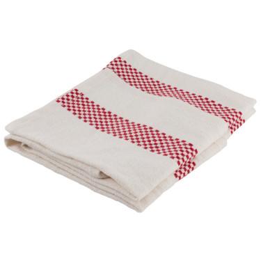 Полотенце кухонное льняное бело-красное 45х75см Lustucru, Charvet Editions - 44386
