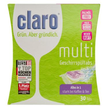 Таблетки для посудомоечной машины Eco Multi Tabs 30 шт, Claro