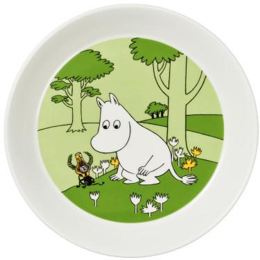 Тарелка Муми-Тролль зеленая 19см Moomin, Arabia