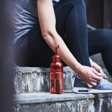 Бутылка Workout Bottle 480мл красная, Kinto - 45765