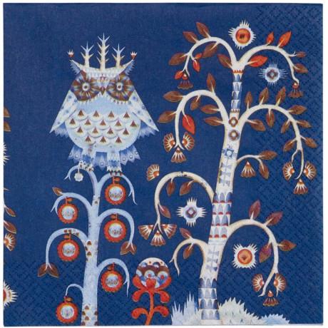 Салфетка бумажная синяя с рисунком Taika, iittala - 20948