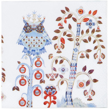 Салфетка бумажная белая с рисунком Taika, iittala - 20949