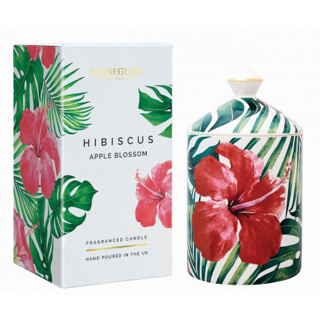 Свеча ароматическая Hibiscus & Apple Blossom (тумблер) Urban Botanics, Stoneglow - 46197