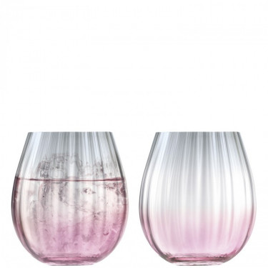 Стакан Dusk розово-серый градиент 425мл (2шт в уп), LSA international - 48352