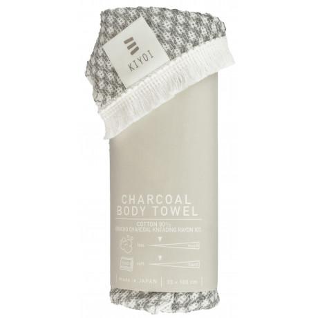 Полотенце-мочалка для тела из кукурузных волокон и угля 30х100см, Harada Textile - 48723