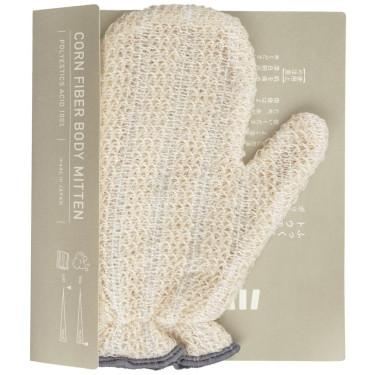 Мочалка для тела из кукурузных волокон бежевая 16,5х20см, Harada Textile