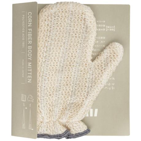 Мочалка для тела из кукурузных волокон бежевая 16,5х20см, Harada Textile - 48724