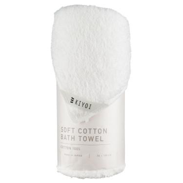 Полотенце банное хлопковое белое 70х130см, Harada Textile