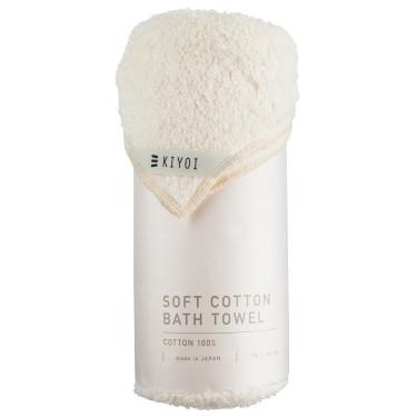 Полотенце банное хлопковое кремовое 70х130см, Harada Textile