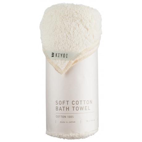Полотенце банное хлопковое кремовое 70х130см, Harada Textile - 48728