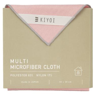 Салфетка для уборки из микрофибры розовая 30х30см, Harada Textile