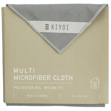 Салфетка для уборки из микрофибры серая 30х30см, Harada Textile
