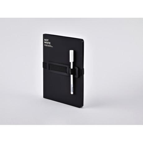 Блокнот Black с белой гелевой ручкой, Nuuna - 49472