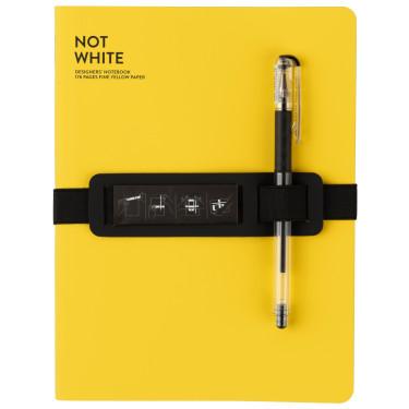 Блокнот Yellow с черной гелевой ручкой, Nuuna