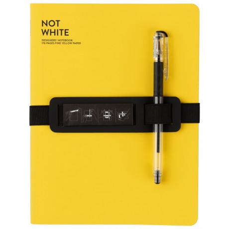 Блокнот Yellow с черной гелевой ручкой, Nuuna - 49477