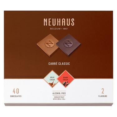 Набор шоколада Карре классический (темный и молочный шоколад) 200г, Neuhaus