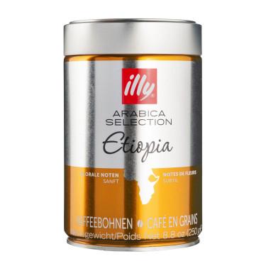 Кофе Арабика Эфиопия 100% в зернах 250г, Illy