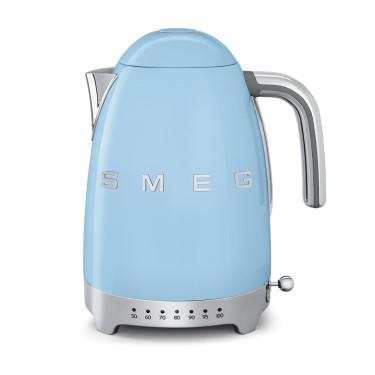 Электрочайник с регулятором температуры пастельно-голубой, SMEG