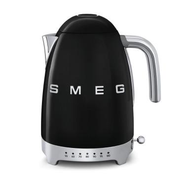 Электрочайник с регулятором температуры черный, SMEG